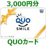 QUOカード3,000円分 画像