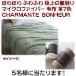 マイクロファイバー シングル毛布 CHARMANTE BONHEUR 画像