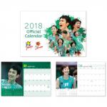 JT 男女バレーボールチーム2018年オリジナル卓上カレンダー 画像