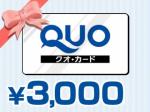 QUOカード3,000円 画像