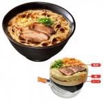 お鍋で温めるだけ♪『なべやき屋キンレイ』お水がいらないラーメン「黒王」4食セット 画像