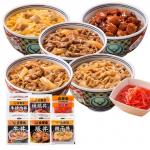 店舗にない限定品も入っています!『吉野家』大人気丼の具・5種10食セット 画像